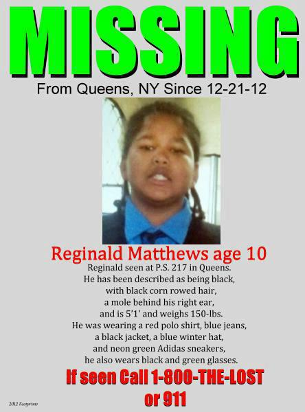 missing reginal matthews