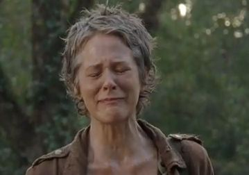 carol cry walking dead