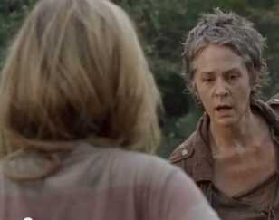 carol shock walking dead