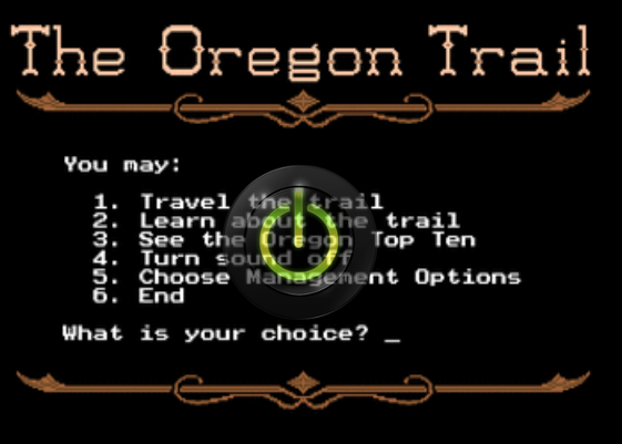 The Original Version Of The Oregon Trail game