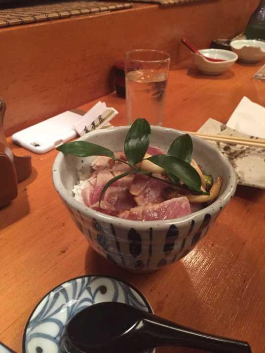 NYCTalking Sobaya garlic rice tuna steak