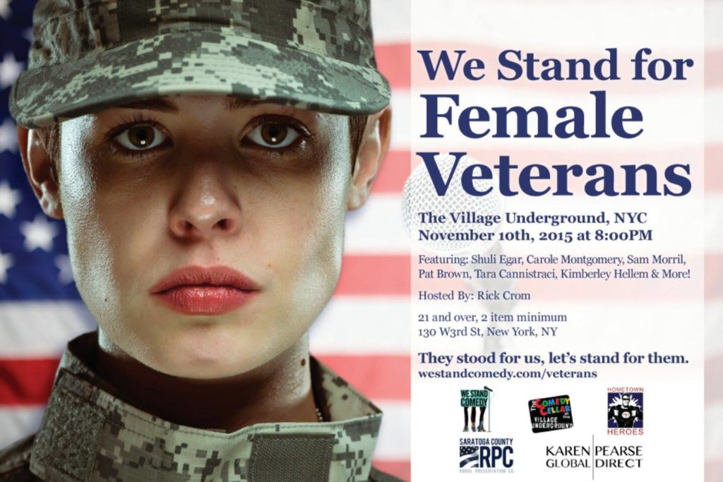 we stand for female veterans