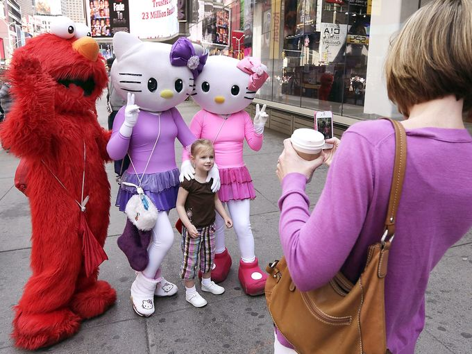 cartoon times square